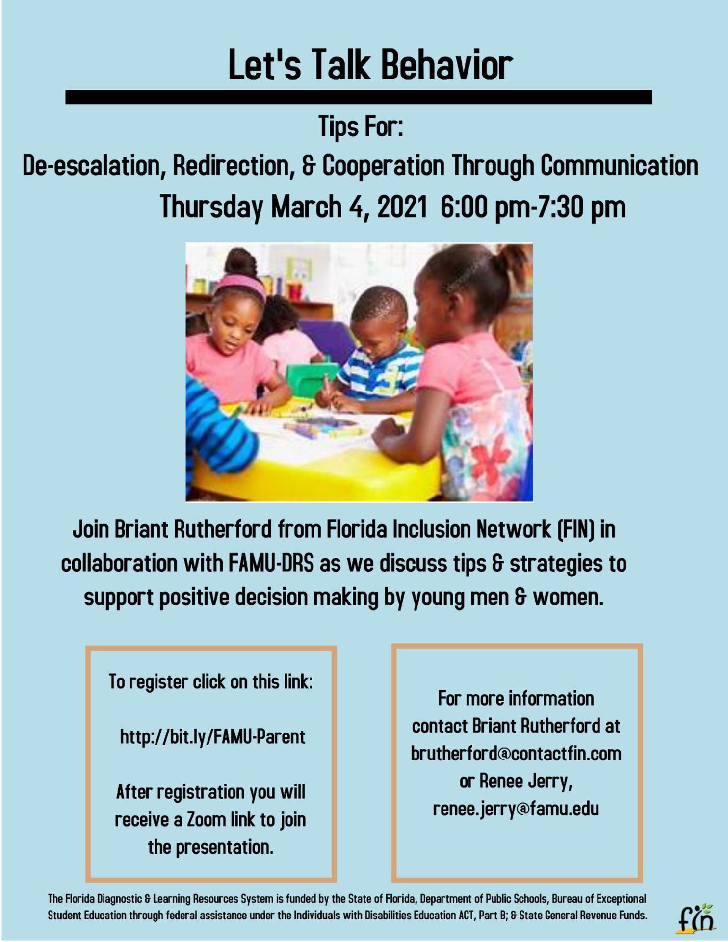 Let's Talk Behavior Series