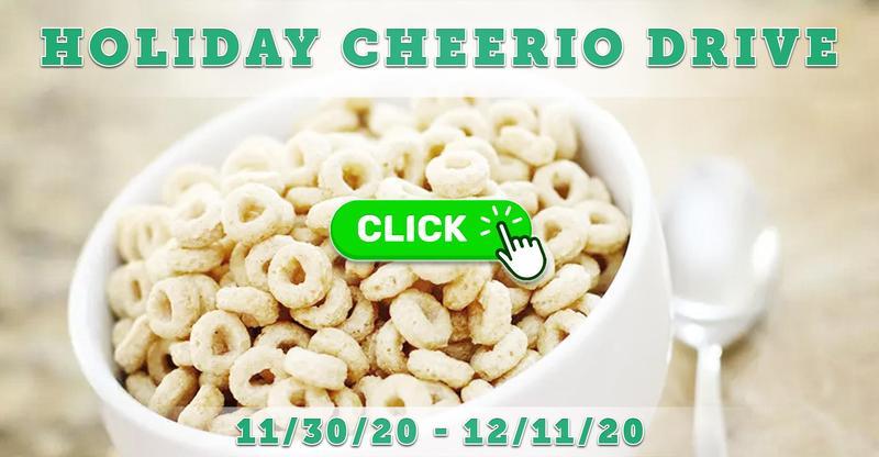 Holiday Cheerio Drive: 11/30/20 - 12/11/20