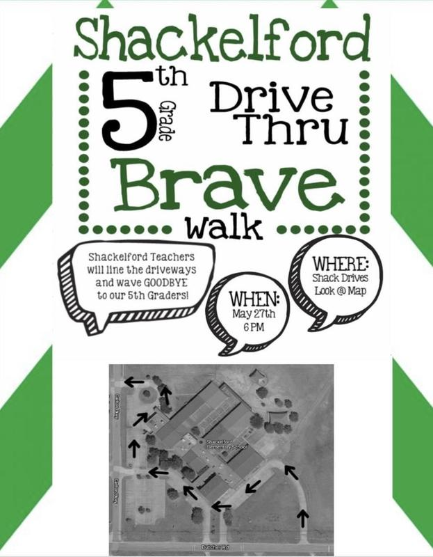 graphic describing 5th grade elephant walk parade