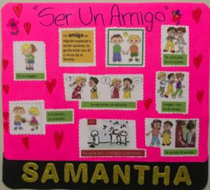 Samantha's anti-bullying poster
