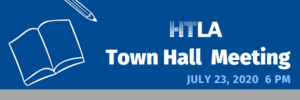 Town Hall meeting July 23, 2020 at 6:00 PM