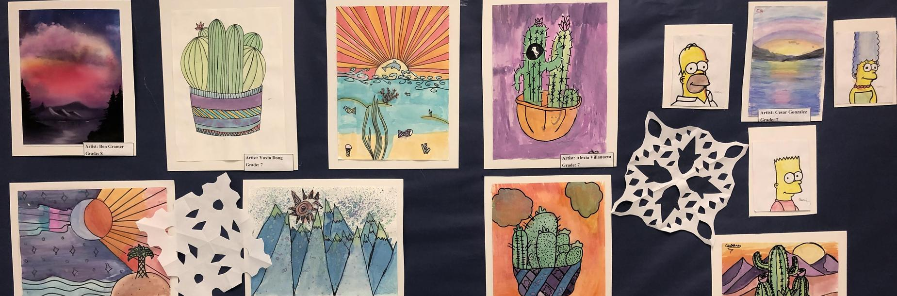 Art on Display at The Winter Fine Arts Program!