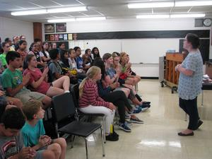 Choir Students in New Room