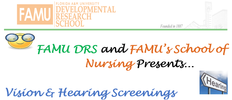 FAMU DRS and FAMU's School of Nursing Presents...  Vision & Hearing Screenings Featured Photo