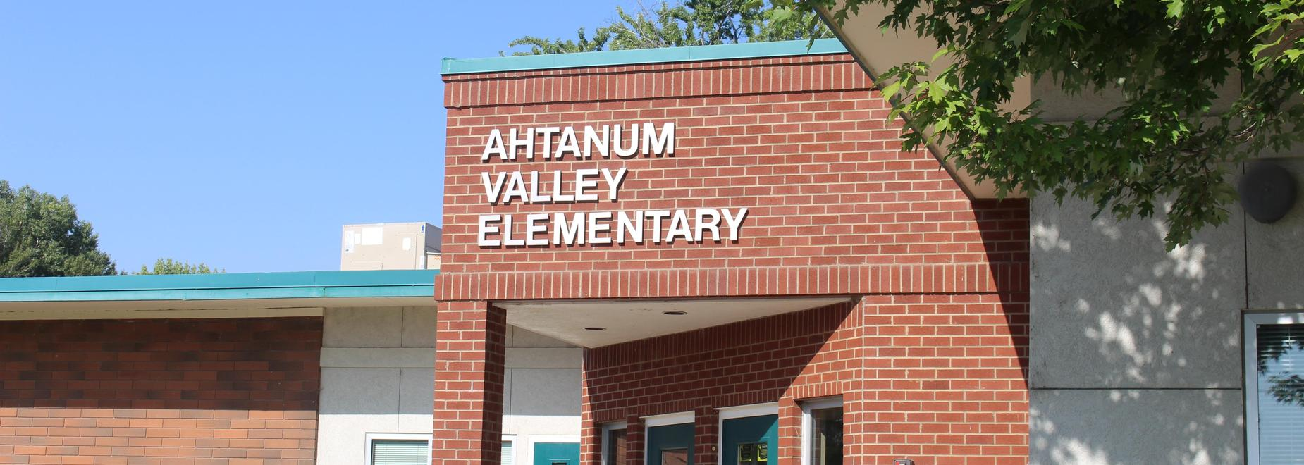 Ahtanum Valley Elementary entrance