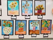 ACS students' artwork displayed in the Board room