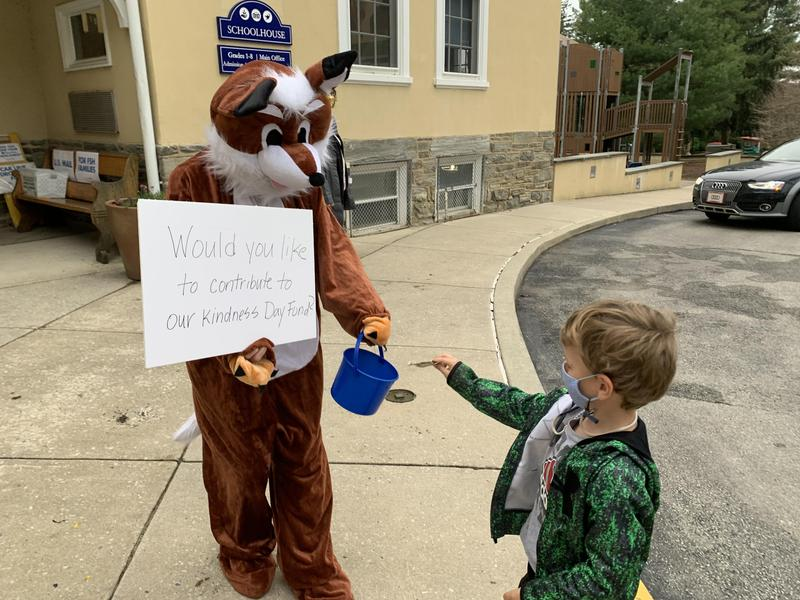 Mr. Fox collecting donations Featured Photo