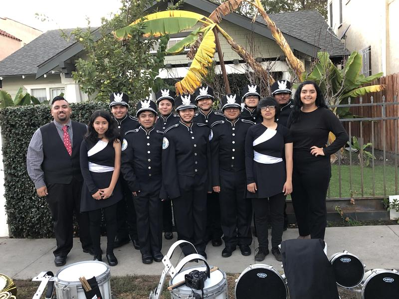 Cardinal Regiment Marching Band takes part in Los Angeles Christmas Parade Thumbnail Image