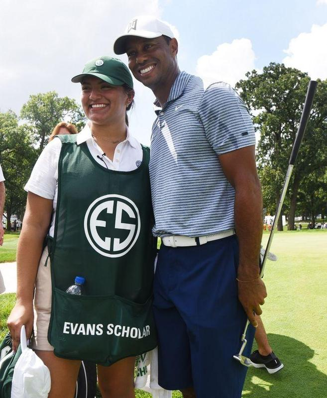 Caddie for Tiger Woods? No sweat for our Mariner Alum Sarahi Ortiz! Featured Photo