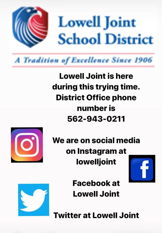 Lowell Joint School District social media information Featured Photo