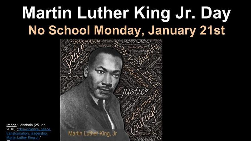 Dr. Martin Luther King Jr. Day - No School Featured Photo