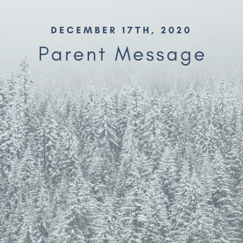 SCIS Parent Message: December 17th, 2020 Featured Photo