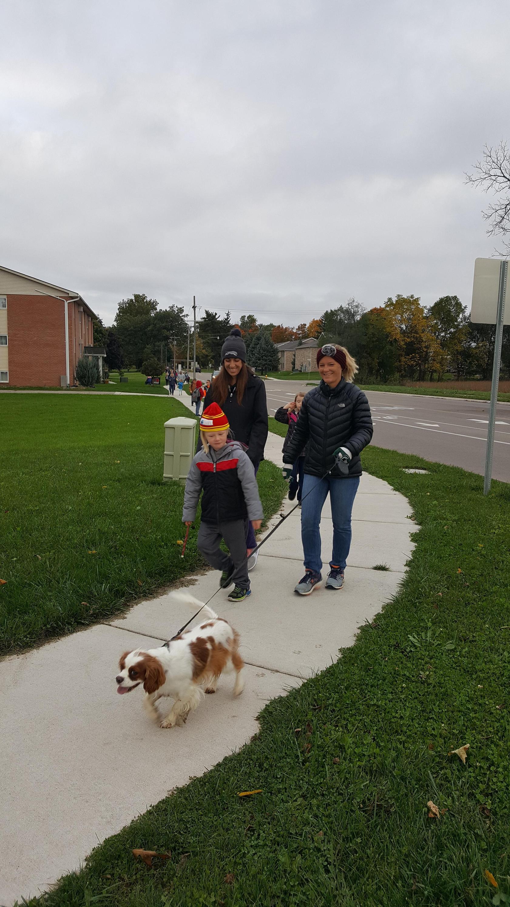 Photo of walk to school day 2018