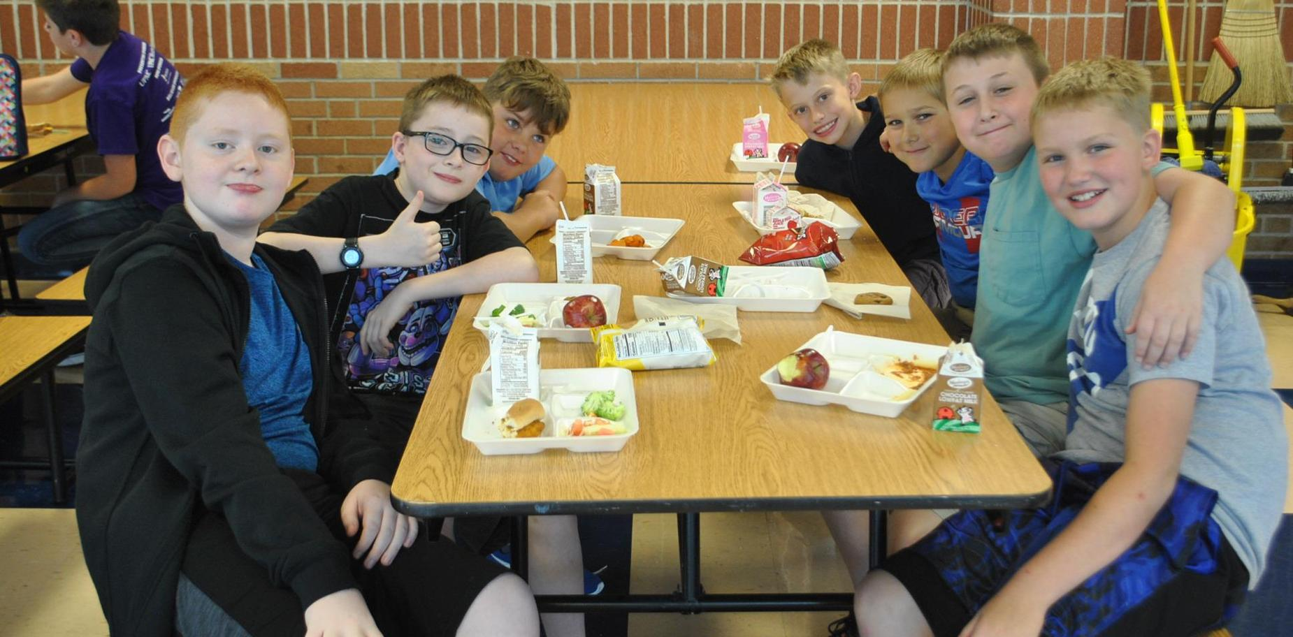 Boys at KMS lunch