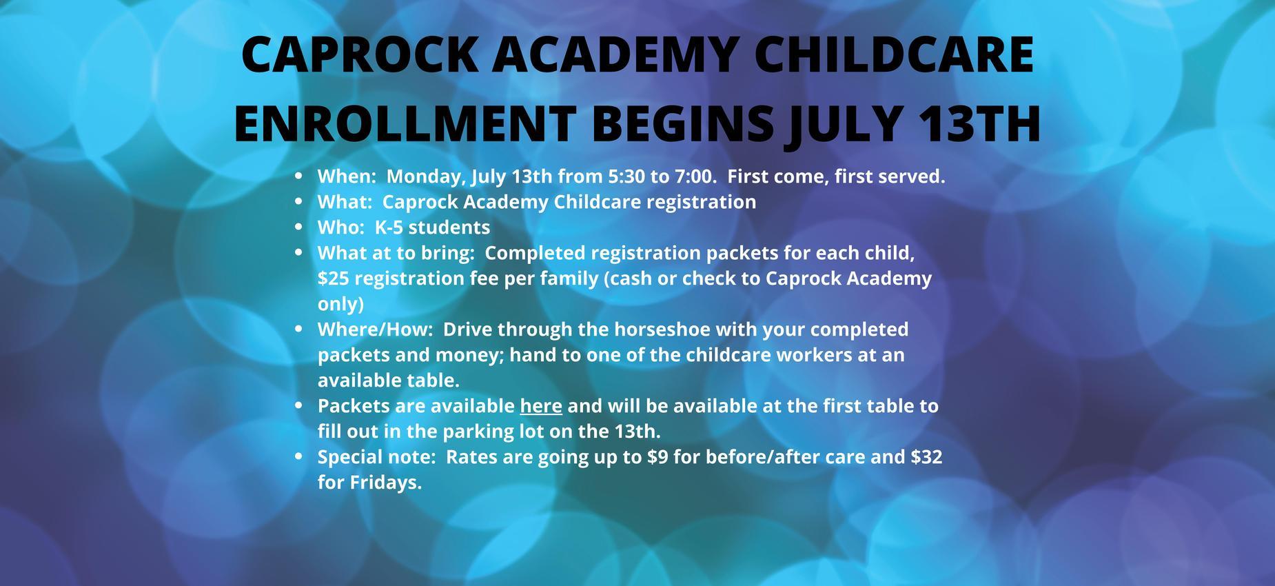 childcare registration event