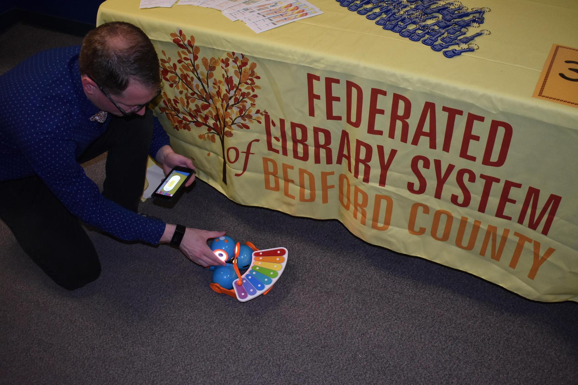 Mr. Godisart with Bedford County Library