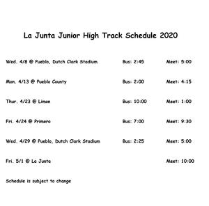 La Junta Junior High Track Schedule 2020.jpg