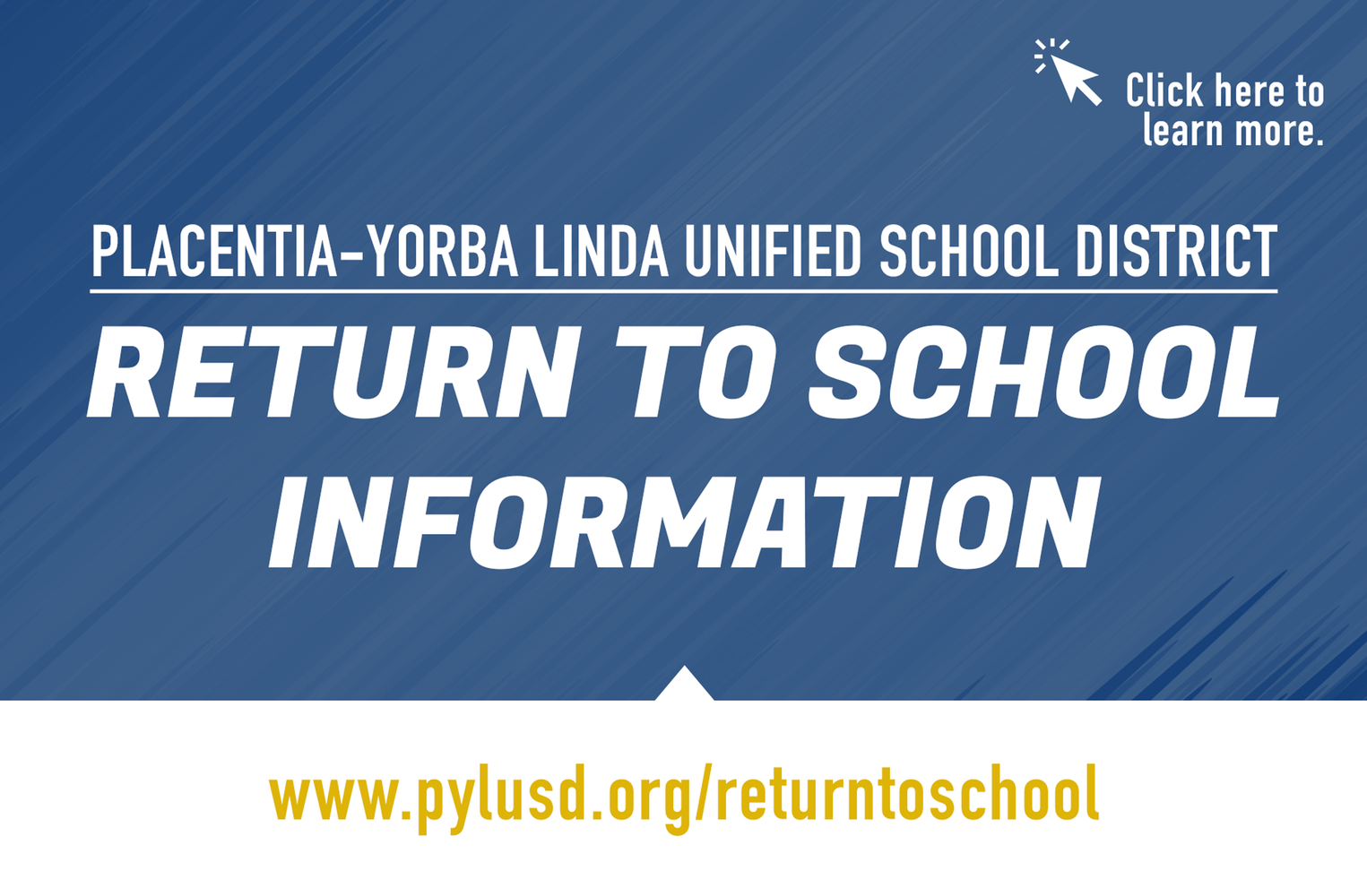Return to School information.