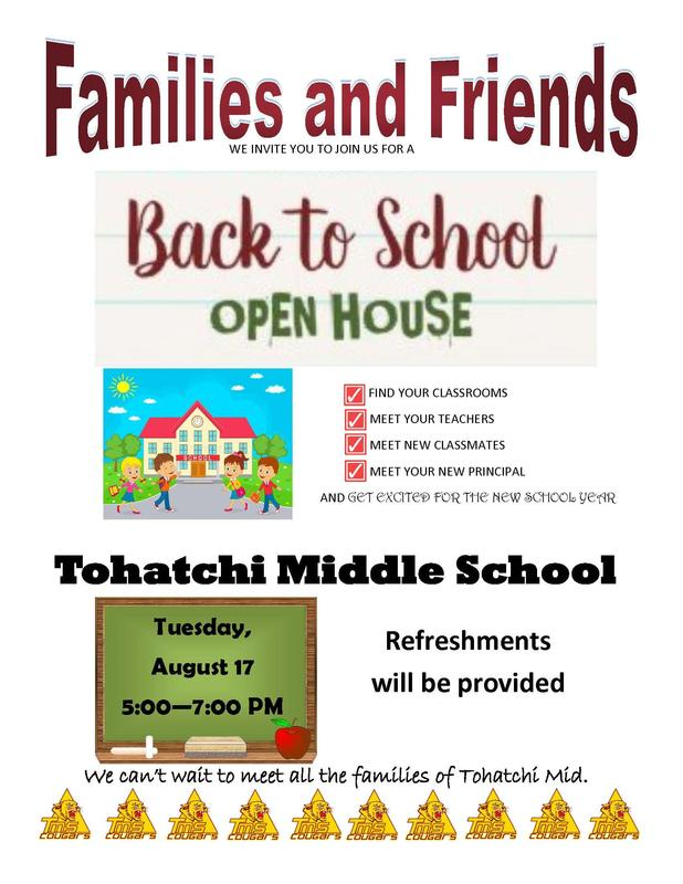 Tohatchi Middle School Open House