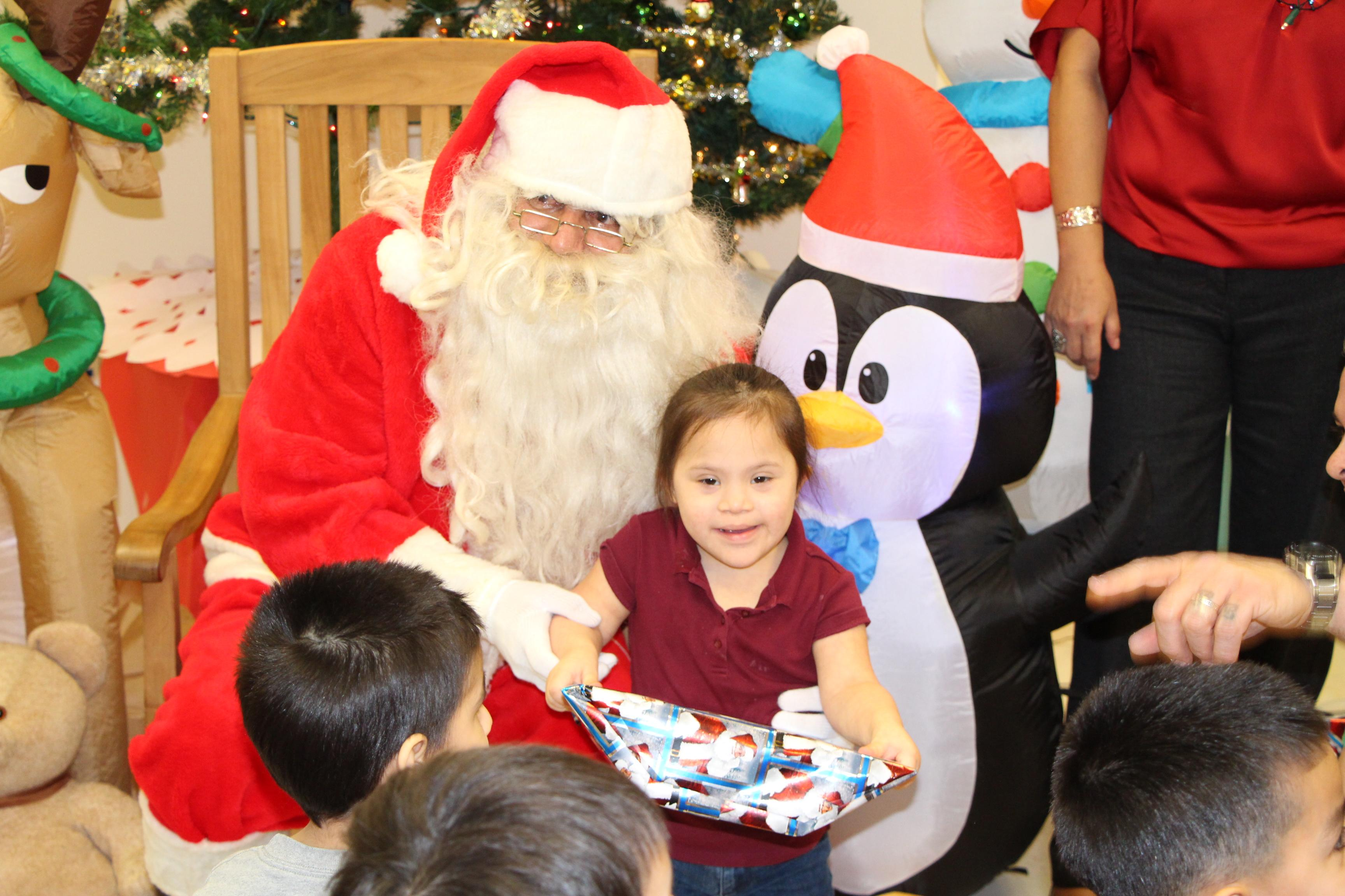 Santa visits ACU and PPCD