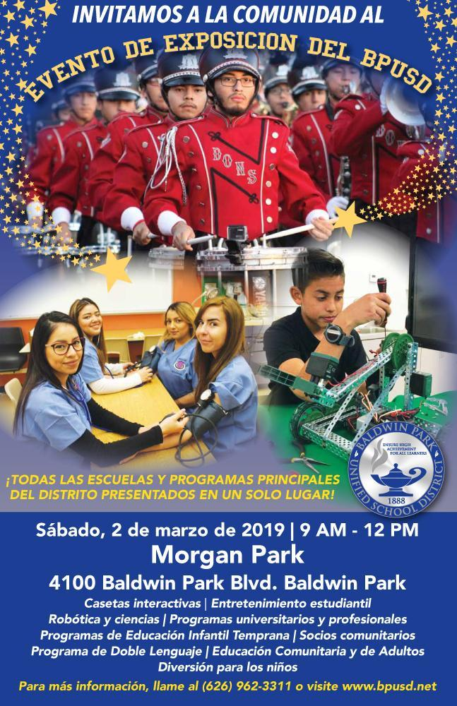 2019 Showcase Event Flyer BPUSD SPANISH