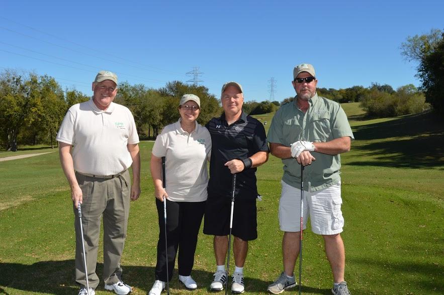Golfers enjoying the day