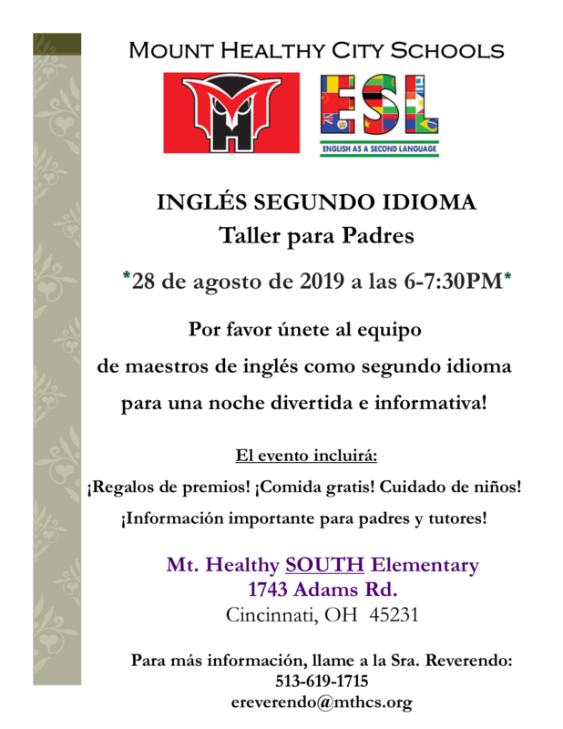 ESL parent flyer spanish