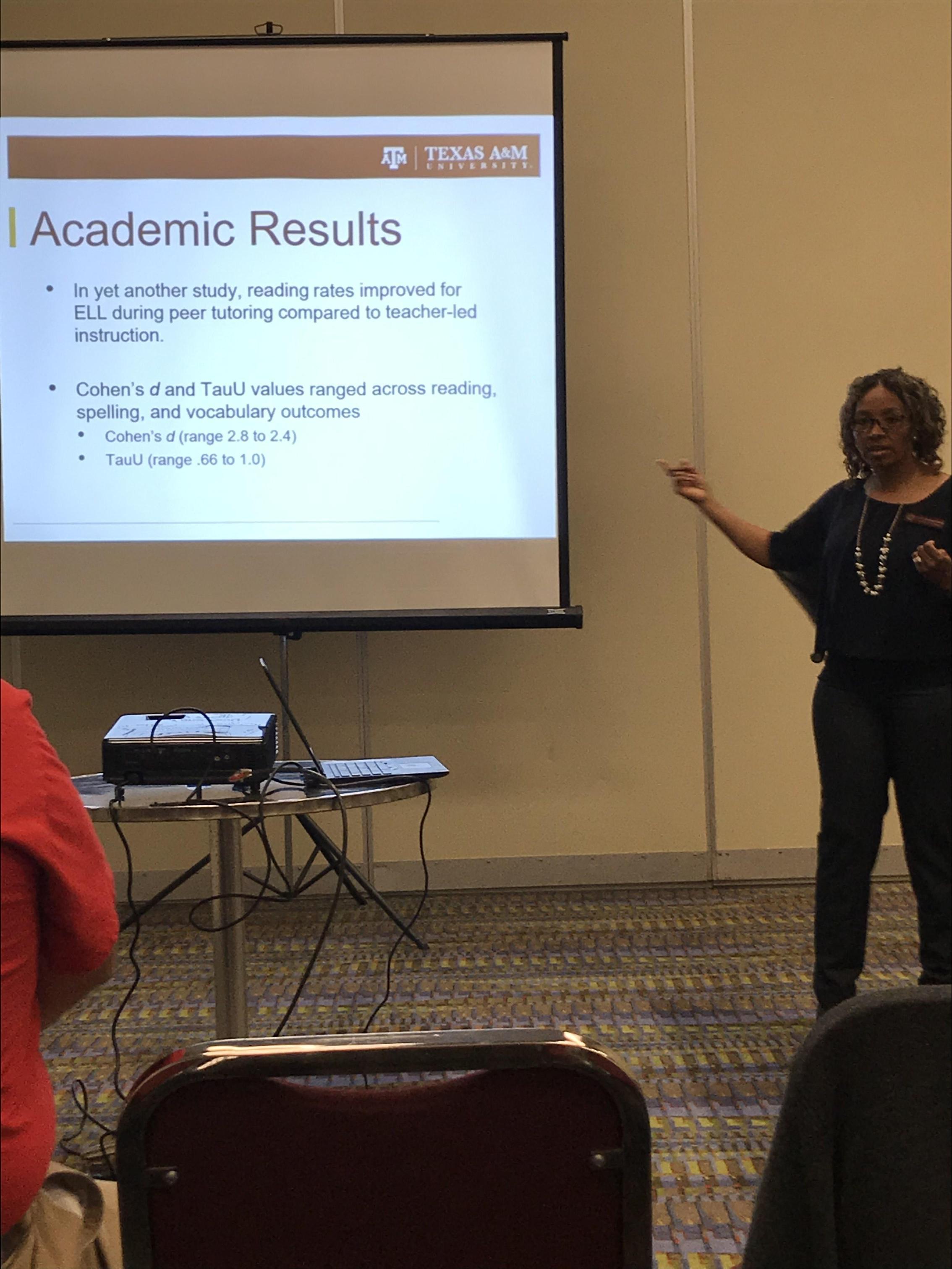 Presenter giving a presentation