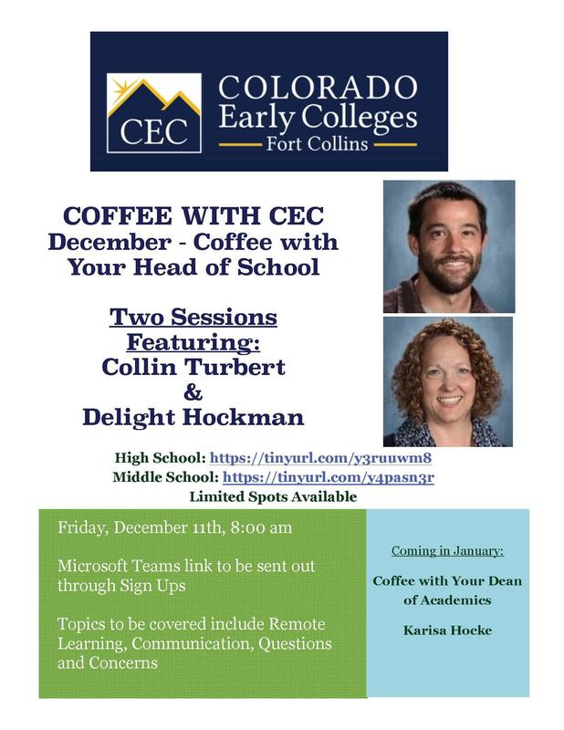 Flyer for Coffee with CEC