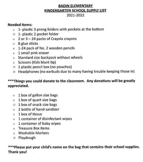 Reposting school supply lists for everyone! **Please note this change: 3rd grade is now allowing bookbags!** 🎒 📚📓✏️🖍📝 #getexcited #schoolsupplies #wattwatt Featured Photo