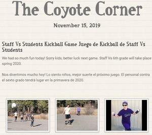 Screen shot of the Nov 15 newsletter header