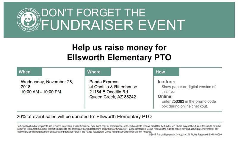 Fundraiser Flyer Panda Express