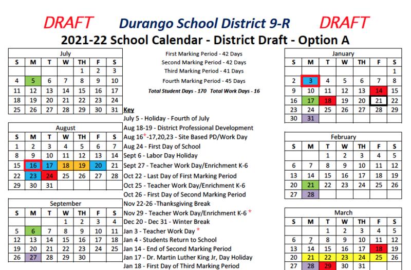 2021/22 Academic Calendar