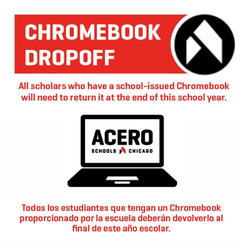 chromebook drop off information