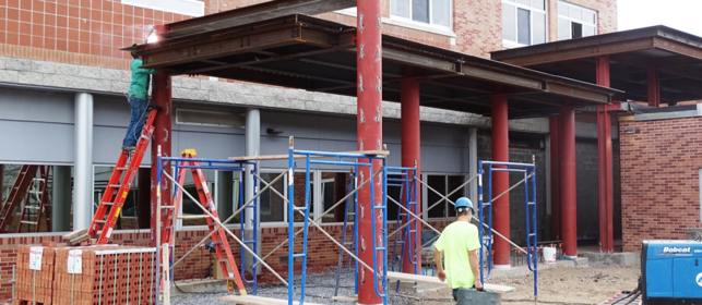 Elementary Entrance under construction