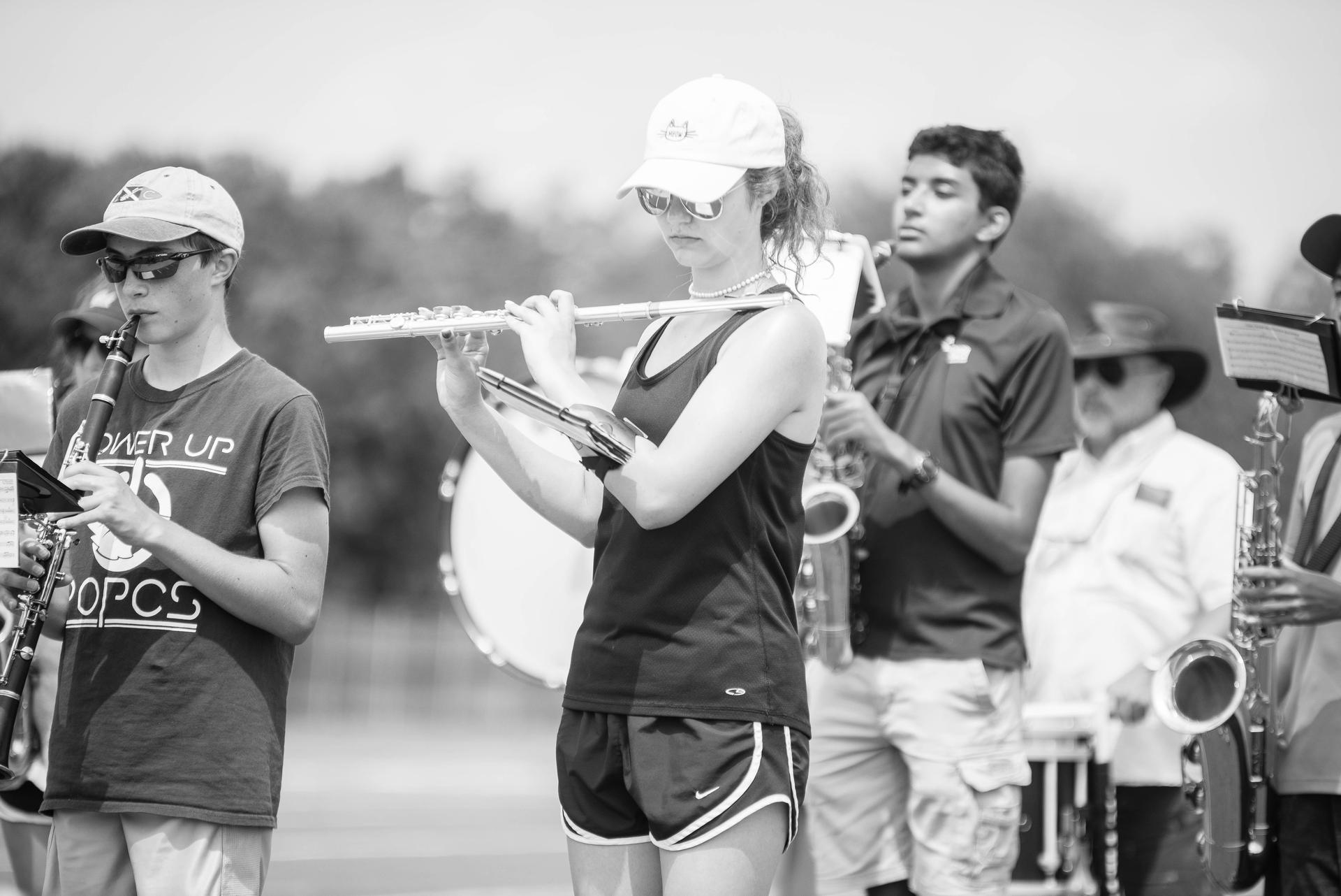 Students performing at Band Camp
