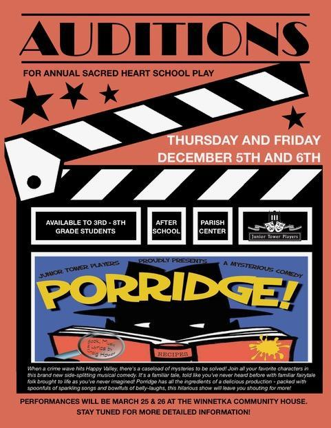 Porridge! Auditions