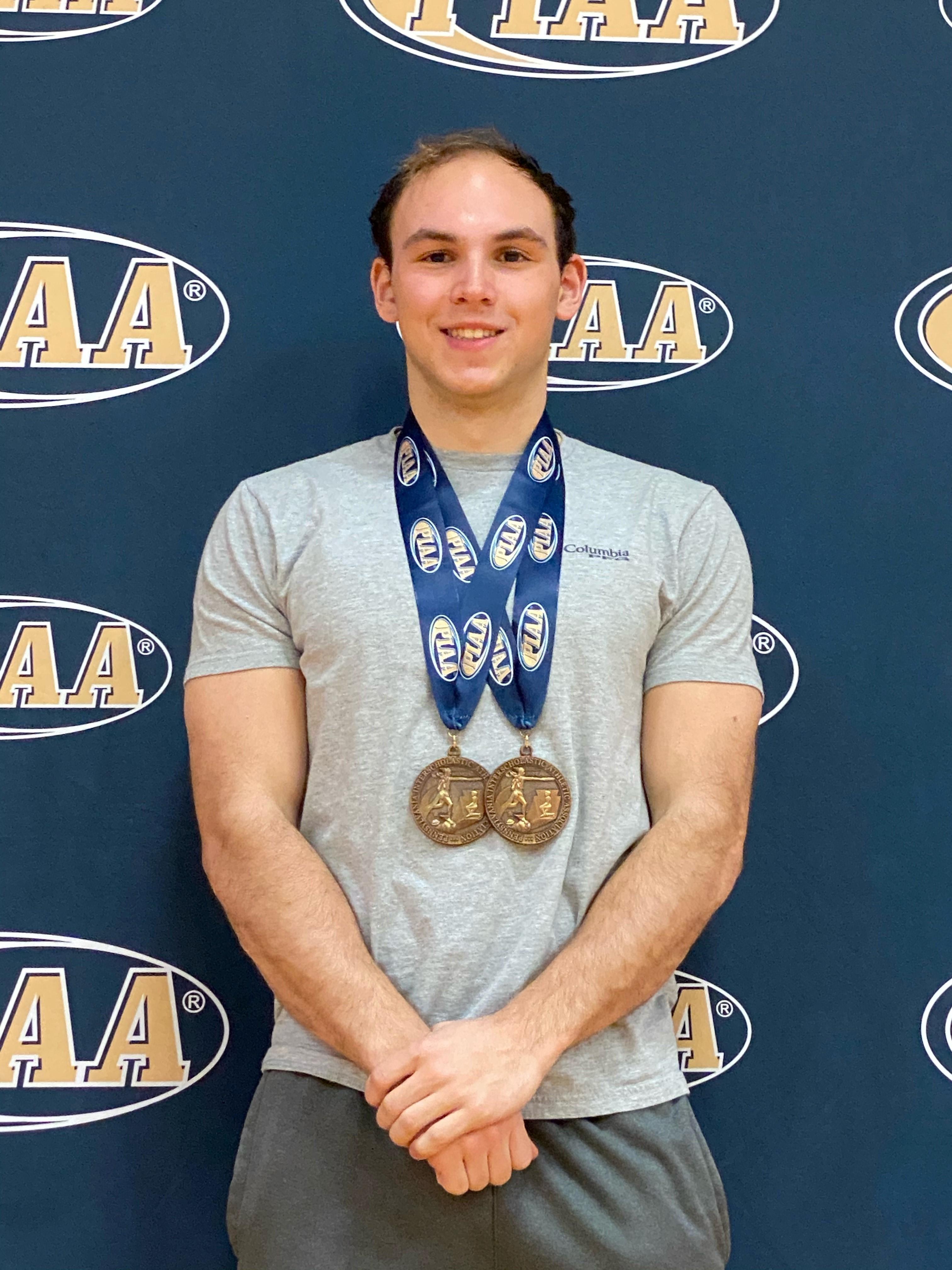 Jeffries medals at 2021 PIAA AA swim meet