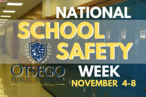 graphic of lockers with National School Safety Week on front
