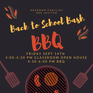 Back to school BBQ flier.