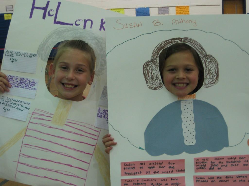 Wax Museum-Helen Keller and Susan B. Anthony
