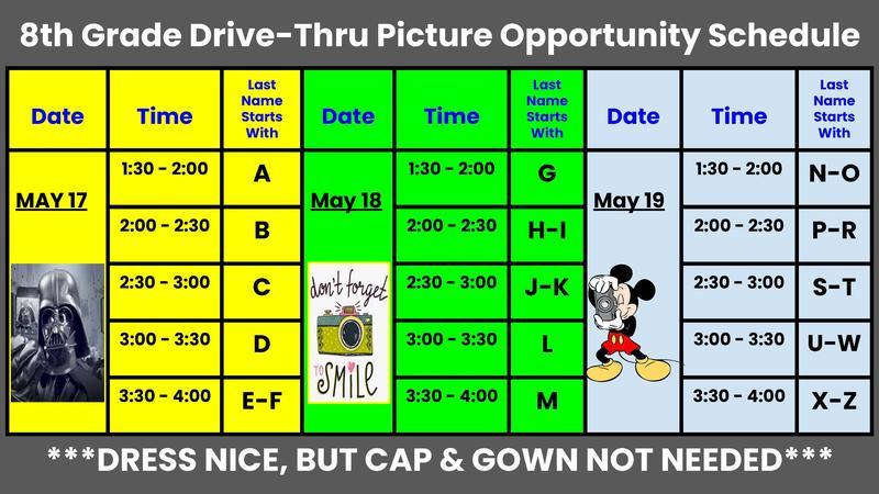 8th grade photo opportunity