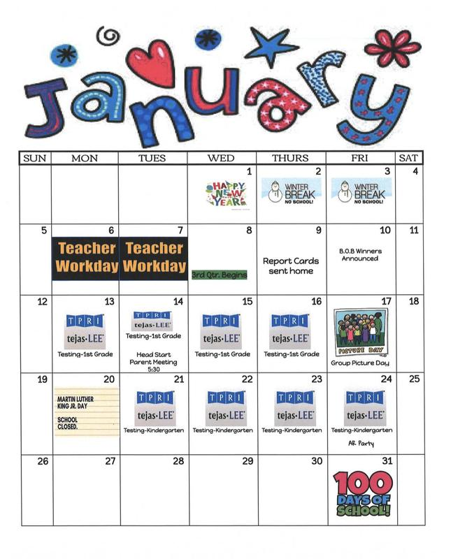 January Calendar Featured Photo