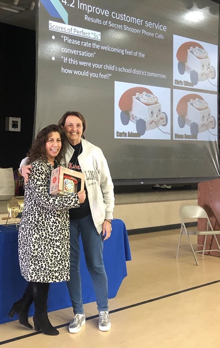 Diana Gonzalez winning Customer Service Award