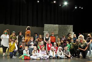 TKMS cast and crew prepare for their spring play.