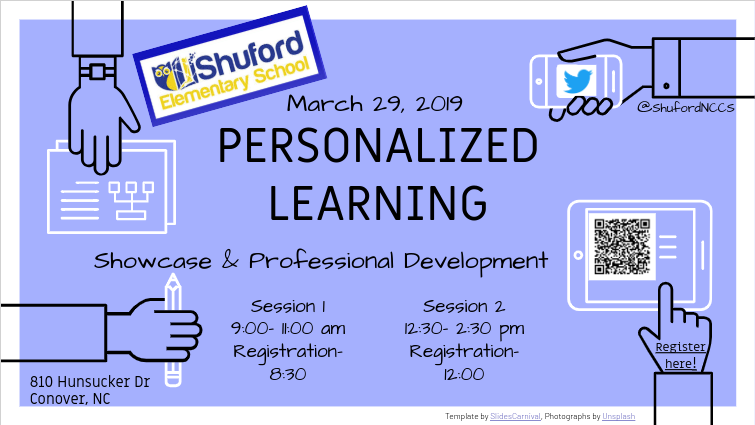 Invitation to Showcase and Professional Development for March 29, 2019