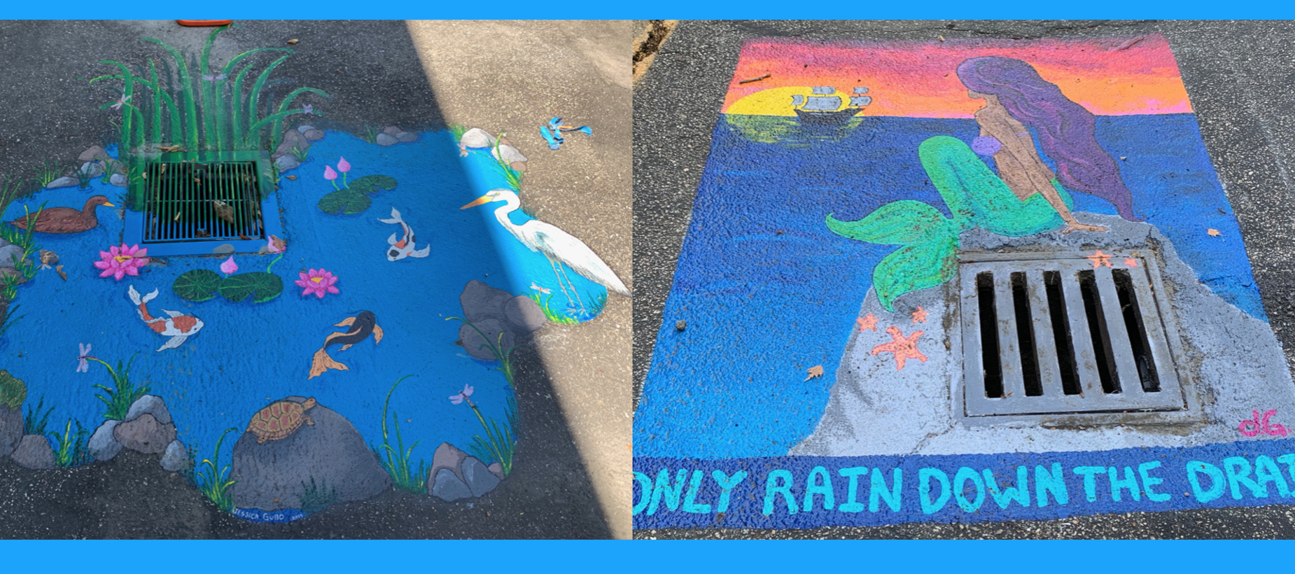 Drain Art at BCE, created by parent volunteers