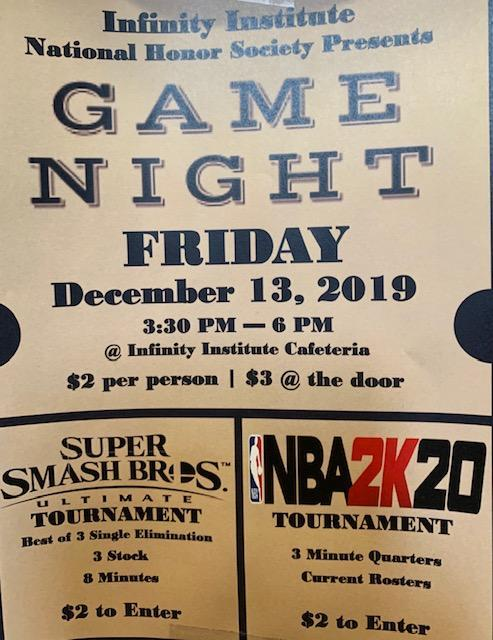 Game Night Friday, December 13th                3:30PM -6:00PM Featured Photo