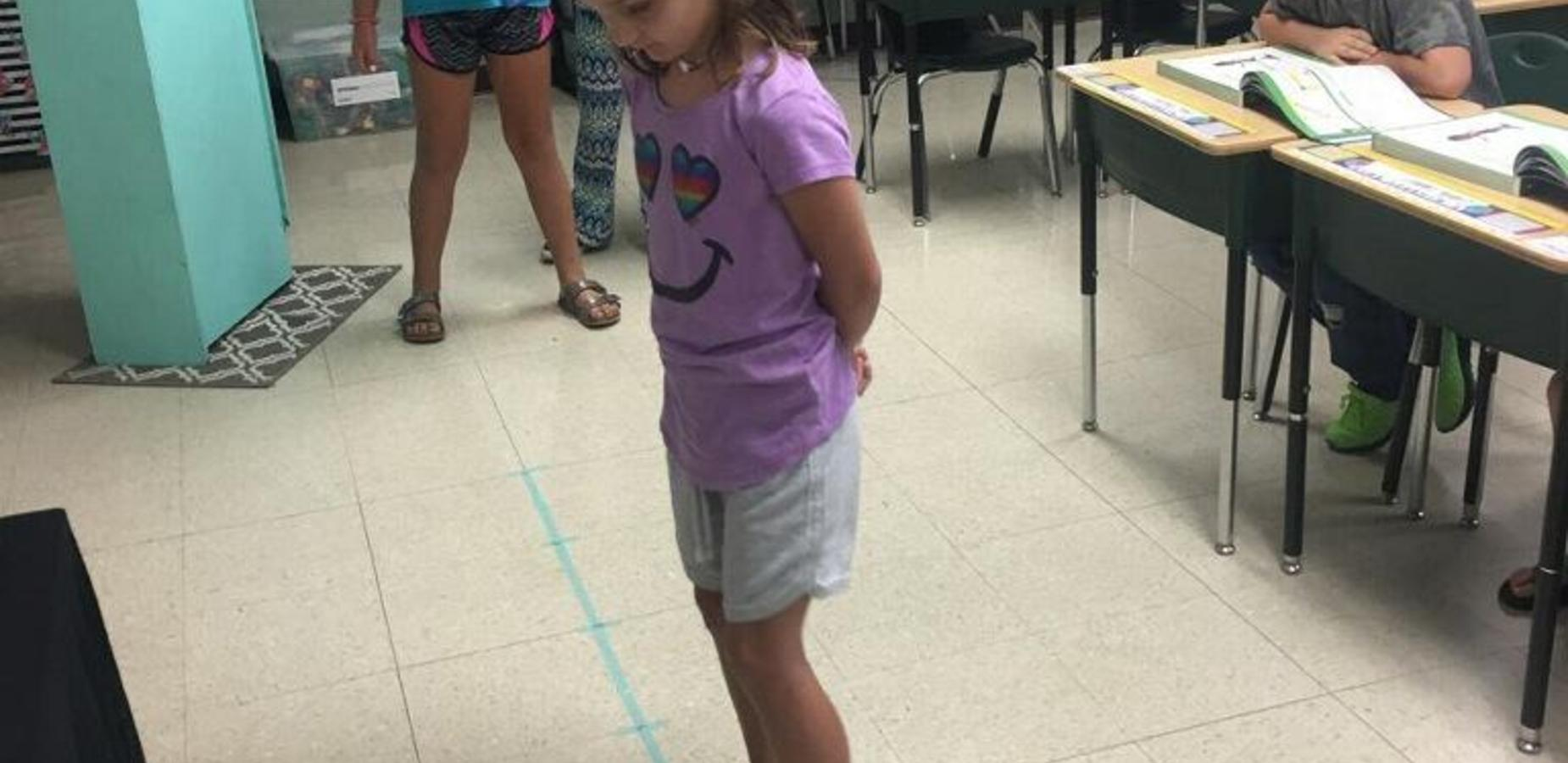 2nd grade students had fun using number lines to subtract.