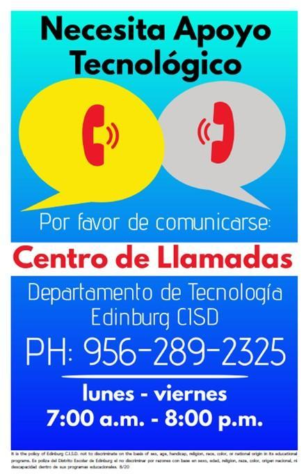 Image of Call Center Spanish flyer